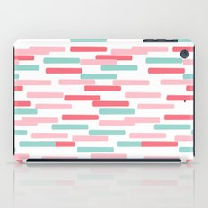 Karena - abstract minimal trendy pattern palette lines dash grid urban affordable dorm college decor iPad Case