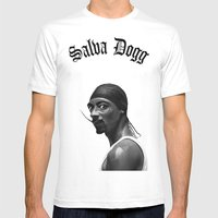 Salva Dogg Mens Fitted Tee White SMALL