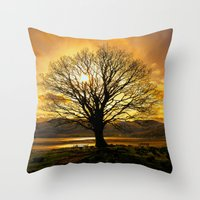 Tree Of Fire Throw Pillow