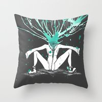 All Riled Up & Silent Throw Pillow