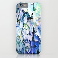 iPhone Cases featuring Soft Tri-Color Pastel Hydrangea by Judy Palkimas