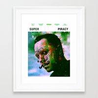Super Piracy Framed Art Print