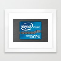 Skynet Inside Framed Art Print