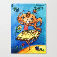 Frolicking Feline Canvas Print