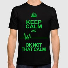 Keep Calm SMALL Black Mens Fitted Tee