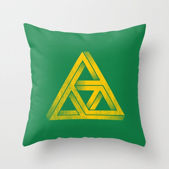Penrose Triforce Throw Pillow