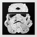 Gore Trooper Blk/Wht Canvas Print