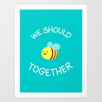 A Bug's Love Life Art Print