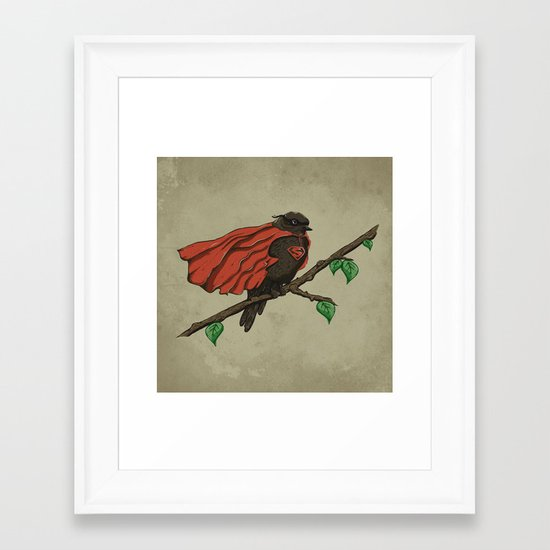 Super Bird Framed Art Print