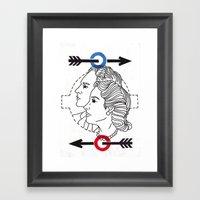 Locals Only-London Framed Art Print