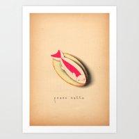 u pesce cotto Art Print