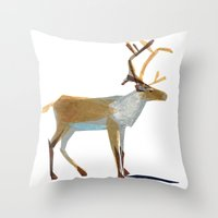 Clive Caribou Throw Pillow