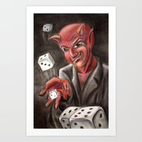 DevilsDice Art Print