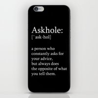Askhole iPhone & iPod Skin