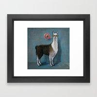 OK Llama Framed Art Print