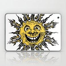 sun face - original yellow Laptop & iPad Skin