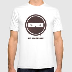 no smoking Mens Fitted Tee White SMALL