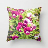 Pretty violets Throw Pillow