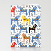 Dala Horse pattern Stationery Cards