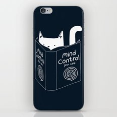 Mind Control For Cats (dark blue) iPhone & iPod Skin
