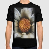 Flower Power Mens Fitted Tee Black SMALL