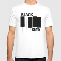 The Black Piano Keys Mens Fitted Tee White SMALL