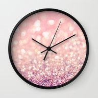 Wall Clock featuring Blush by Lisa Argyropoulos