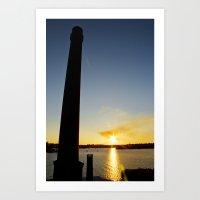 Sunset on Cockatoo Island Art Print