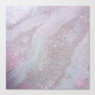 Elegant Pink Polished Ma… Canvas Print
