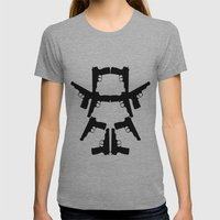Pistol Robot Womens Fitted Tee Athletic Grey SMALL