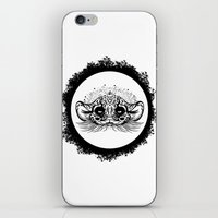 Half Cute Wild Cat iPhone & iPod Skin