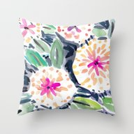 Throw Pillow featuring Pop Floral by Barbarian | Barbra I…