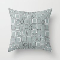 Picture Frames Grey Throw Pillow