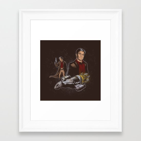 Oh Captain My Captain Framed Art Print