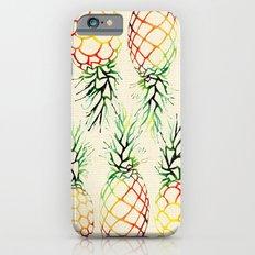 Burlap Pineapples Slim Case iPhone 6s