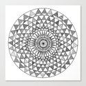 Doily in B&W Canvas Print