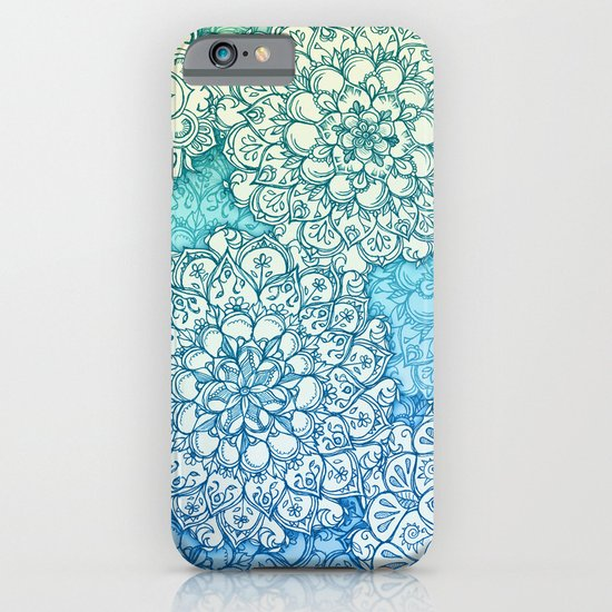 Blue Green Ballpoint Pen Doodle Poem iPhone & iPod Case