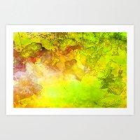GOLDEN NATURE ORCHIDS Art Print