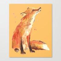 Fox, sweet fox art, fox painting, watercolor fox,  Canvas Print
