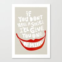Have a smile! Canvas Print
