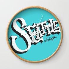SEATTLE, WA Wall Clock
