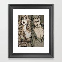 Lancelot And Guinevere Framed Art Print