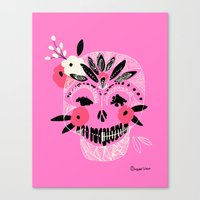 Tribal Boho Skull Canvas Print