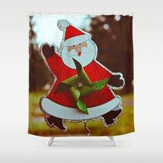 Santa greetings Shower Curtain