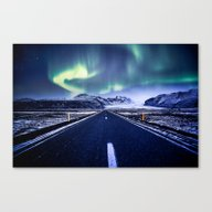 Road To Aurora  Canvas Print