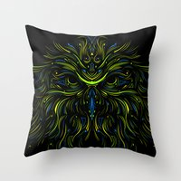 Mysticowl Throw Pillow