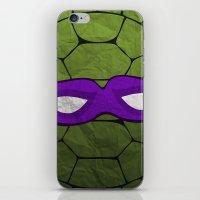 the purple turtle iPhone & iPod Skin
