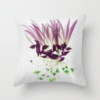 Alien Plant Botanical Bl… Throw Pillow