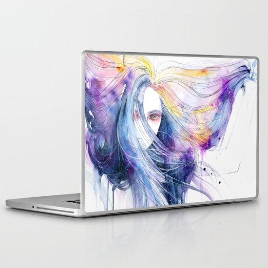 Big Bang in watercolor Laptop & iPad Skin