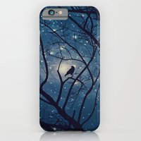 iPhone & iPod Case featuring Moon light Crow by Allison Jarvis